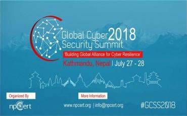 Global Cyber Security Summit 2018 to start form 27th July in Kathmandu