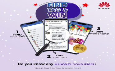 "Huawei starts contest ""FIND ,TAG AND WIN"": Participate and win various gifts and Huawei gadgets"