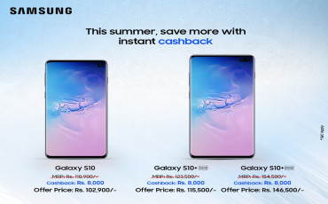 Price Drop Alert ! Samsung Offers Rs.8000 Cashback on S10 & S10+