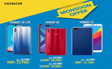 Honor Monsoon Offer! Cashback on Smartphones
