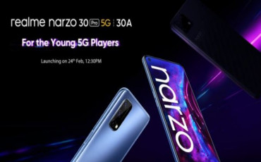 Confirmed ! Narzo 30 Pro, Narzo 30A Launching on 24th February