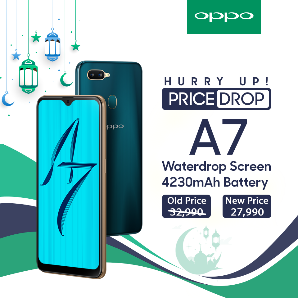 Oppo A7 and A3s gets heavy price drop on the occasion of Ramadan