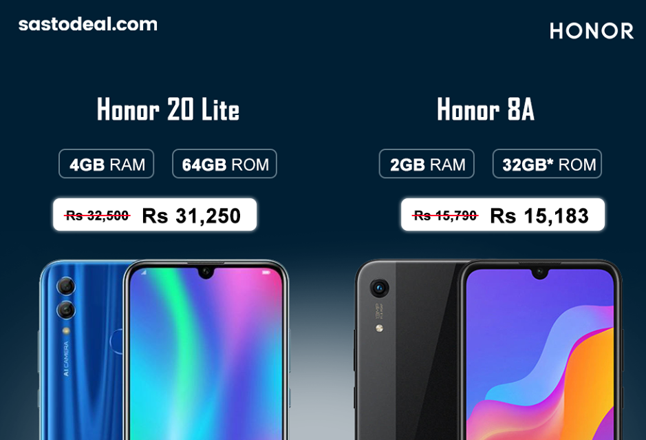 Honor  8A Price In Nepal | Price Cut in Sastodeal For Honor 20 Lite Also