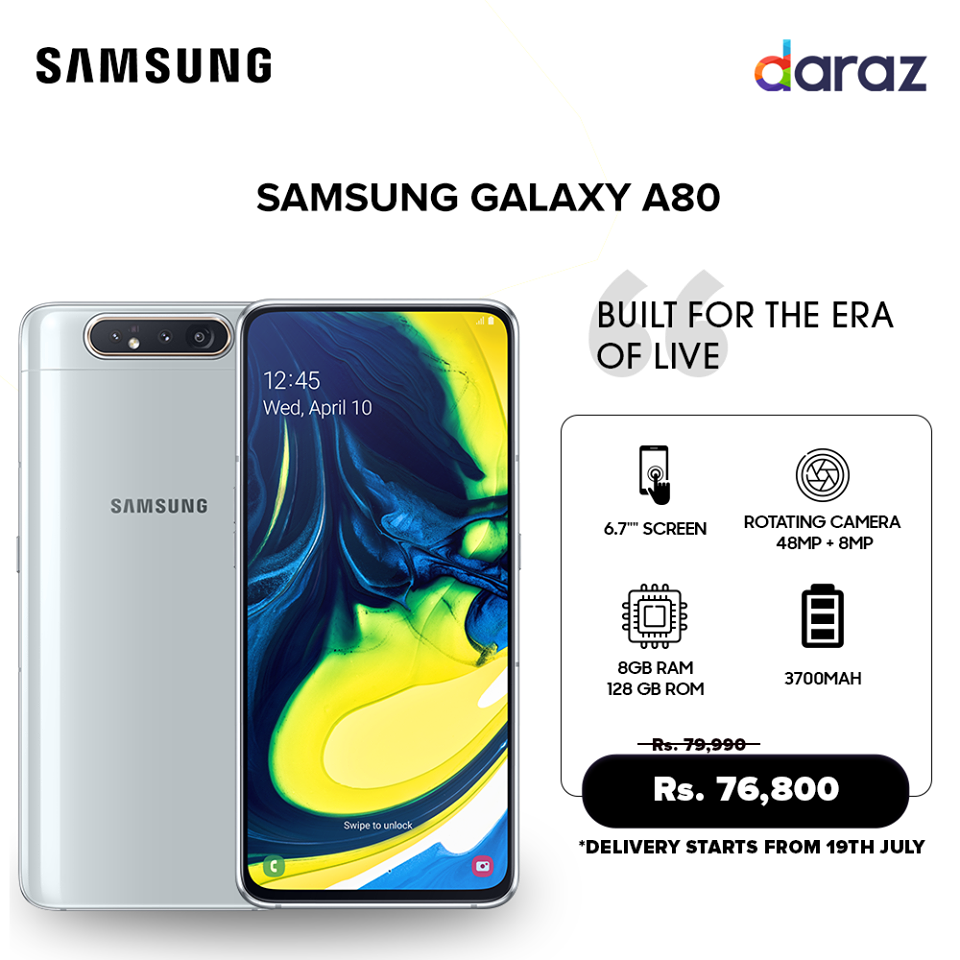 Samsung Galaxy A80 Price in Nepal | Pre-Order Starts In Daraz