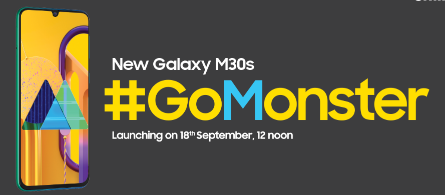 Samsung Galaxy M30s Announced | Launch Confirmed on September 18