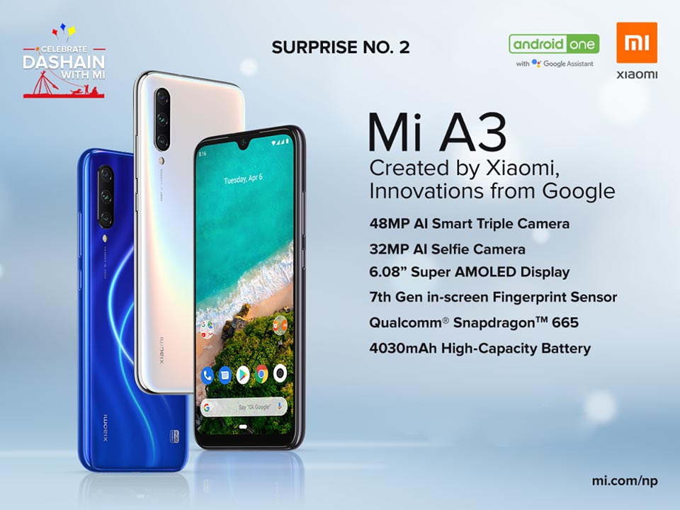 Mi A3 Launched in Nepal at Amazing Price - Specs, Price, Features, Availability & More!