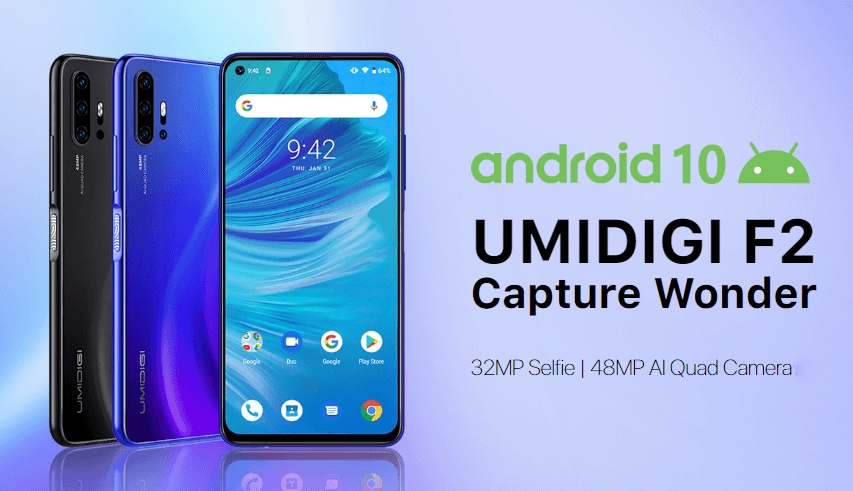 UMIDIGI F2 Announced | World's 1st Smartphone with Android 10