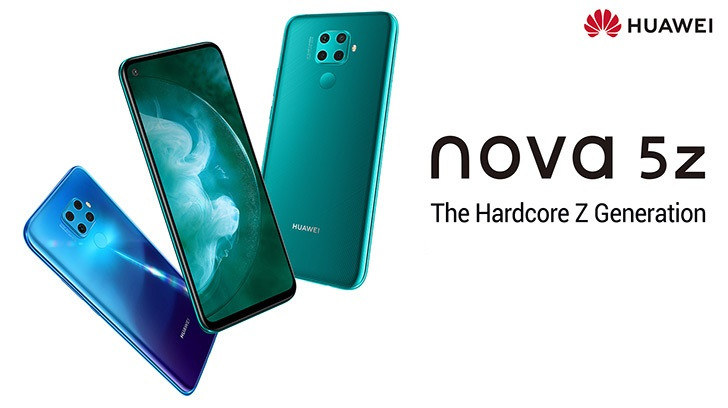 Huawei Lauches Nova 5Z with Quad Camera and Kirin 810 Processor