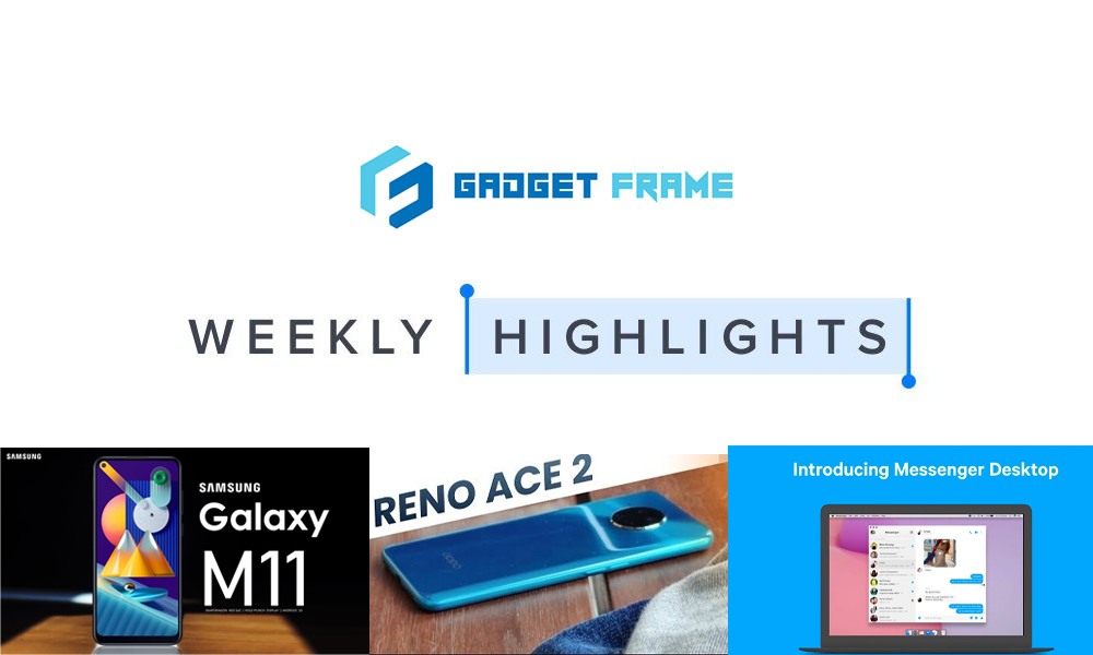 GadgetFrame Weekly Tech Highlights | March 29 - April 4, 2020