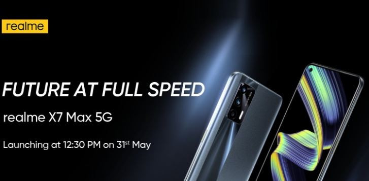 Realme X7 Max 5G Launching on May 31 with Dimensity 1200